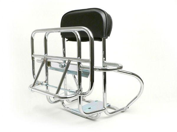 Rack foldable rear + Back rest + Spare wheel carrier -AMS CUPPINI- Vespa Largeframe