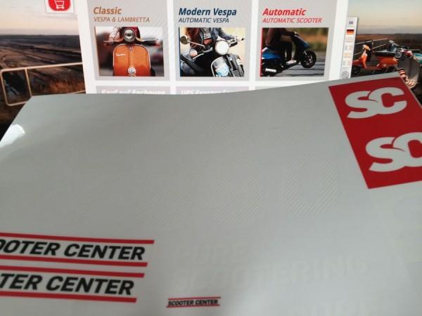 Adesivi con numero di gara di Scooter Center