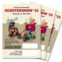 Scooter Customshow Ticket Eintrittskarte