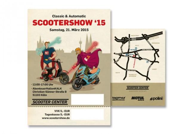 Scootershow 15 tickets Eintrittskarten Scooter Customshow