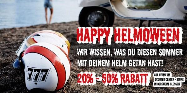 Happy Helmoween Rabatte auf Helme