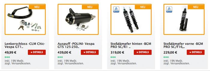 Modern Vespa Tuning Produkte