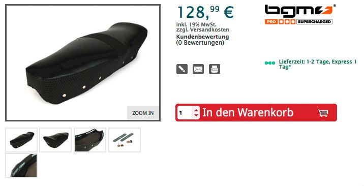 < Zurück Sitzbankbezug -BGM PRO Alfatex- Lambretta LI, LI S, SX, TV - schwarz