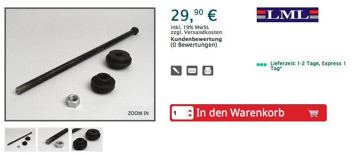 Steuersatzmontagewerkzeug -VESPA- bis 380mm Schalenabstand Artikelnr. 1800024