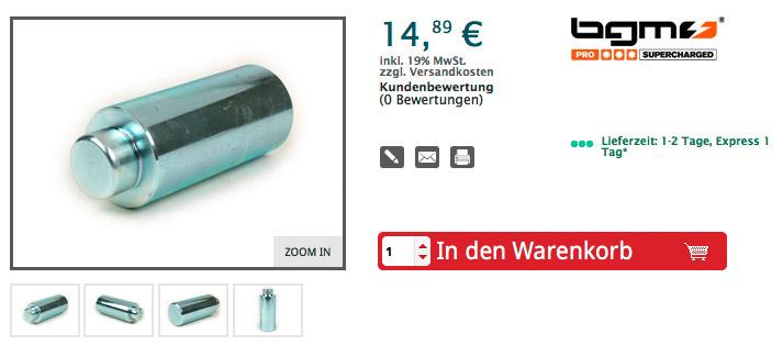 Schlagdorn Montagewerkzeug für Einbau Nadellager Bremsankerplatte innen -BGM PRO (made in germany) für HK2212 (22x28x12mm)- Vespa PX (ab Bj. 1982), T5, Cosa, PK S, PK XL Artikelnr. BGM7901TL