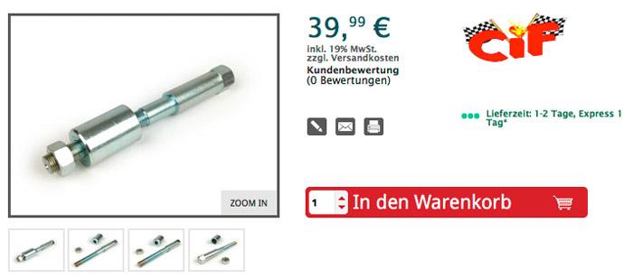 Montage- /Demontagewerkzeug für Schwingenlager Nadellager HK 1816 (18x24x16mm) -VESPA- Vespa V50, V90, SS50, SS90, PV125, ET3 Artikelnr. 7675207