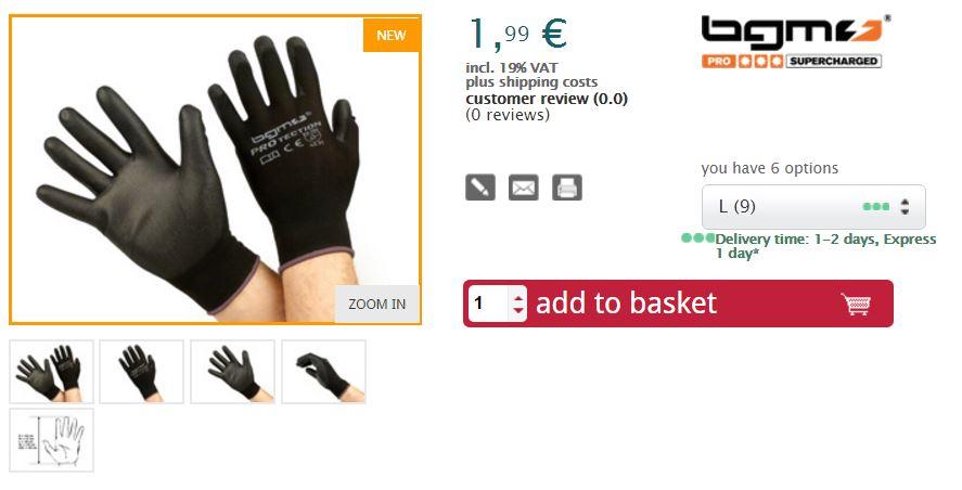 bgm gloves