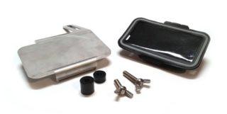 """Smartphonehalter (bis 5,5"""") -MRP- universal f?r handgeschaltete Vespamodelle - Montage unter Lenker an Spiegelverschraubung"""