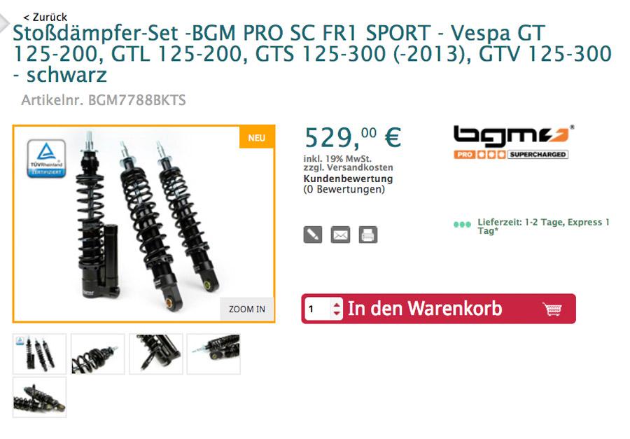 BGM Pro SC SPORT Stoßdämpfer -Sportlich- Komfortabel-Einstellbar-Mit TÜV-