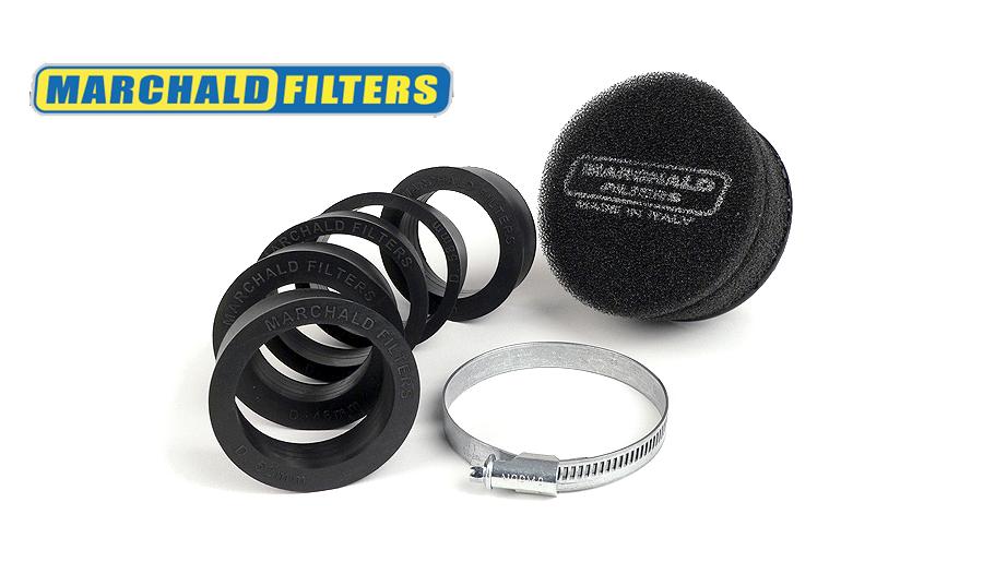 Luftfilter -MARCHALD Power Double Layer- Ø=100mm x 65mm, Anschlussweite Ø=46-62mm - schwarz Artikelnr. 7671197