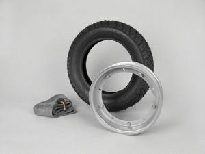 Reifen komplett Set -VESPA HEIDENAU K58- 3.50 - 10 Zoll TL 59M (reinforced) - Felge 2.10-10 grau Artikelnr. 7671768