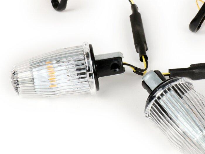 Vespa LED Lenkerendenblinker klar weiß