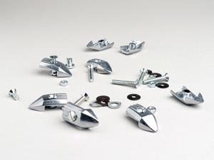 Trittleistenendstück-Set -LAMBRETTA- DL, GP - Metall Artikelnr. 8013608