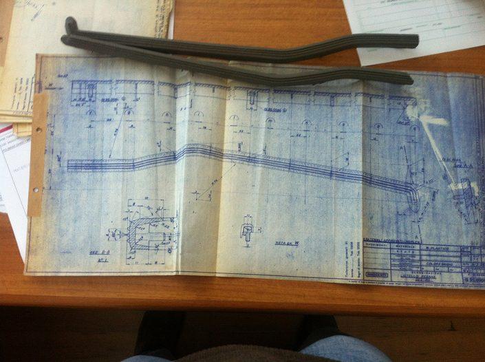 Plan / Zeichnung für Fußleisten original Innocenti Lambretta