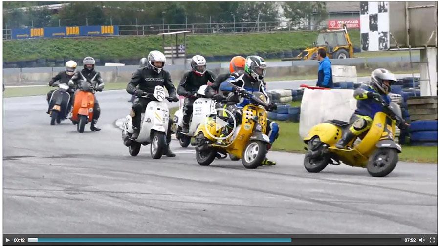 Vespa Racing Video