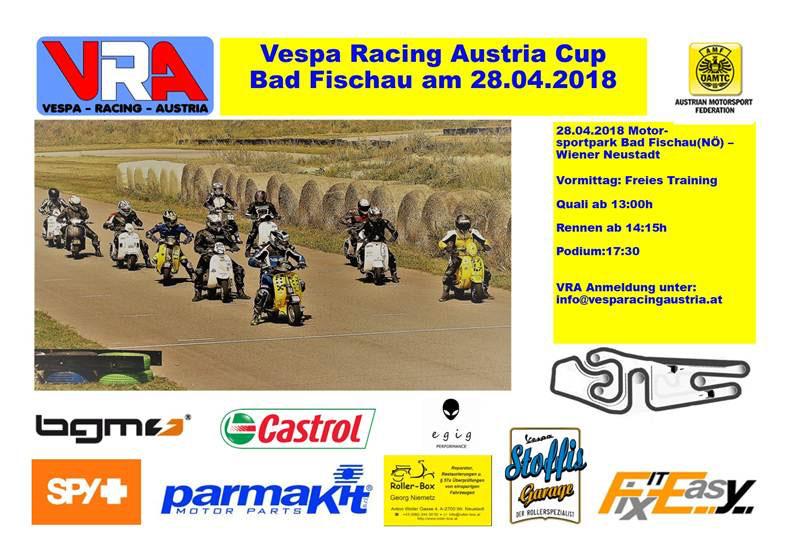 1.Rennveranstaltung Vespa Racing Austria Cup 2018