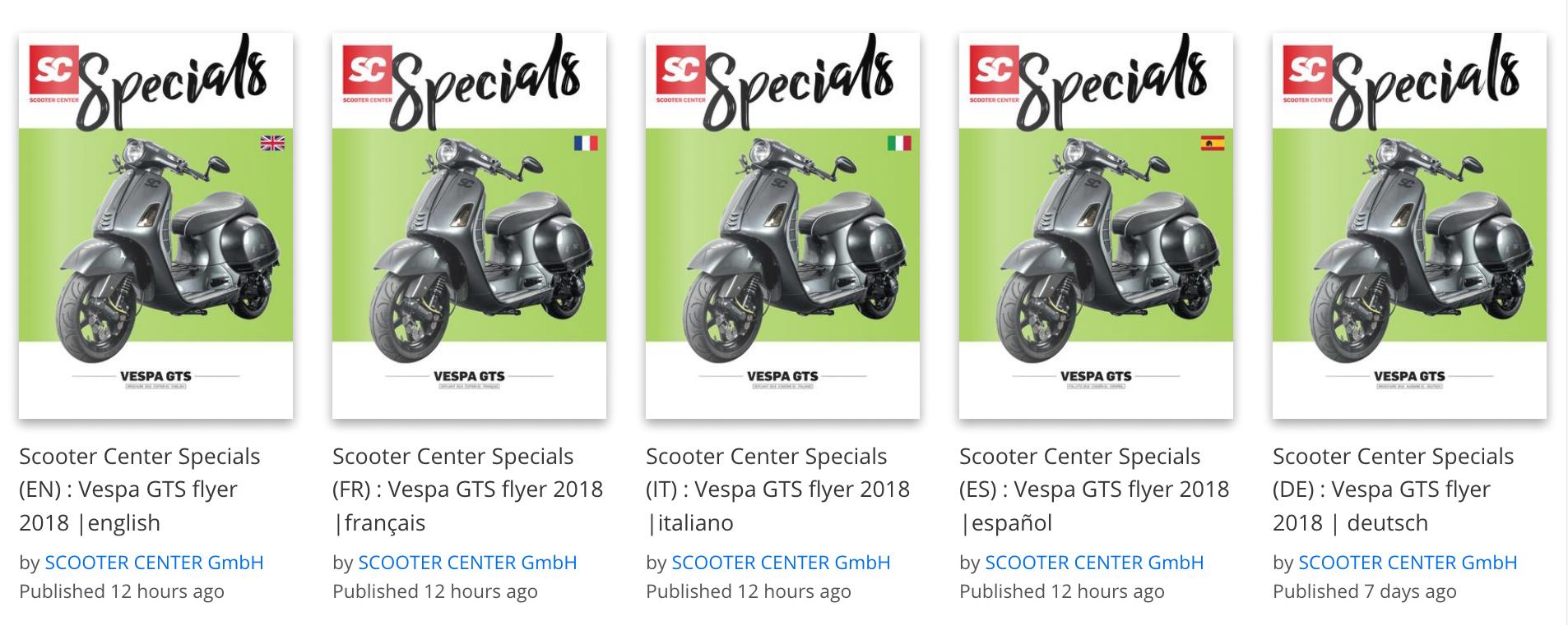 Vespa GTS Katalog