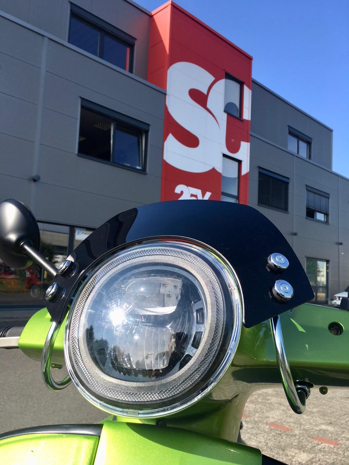 Windschild Vespa GTS Sport klein und mit TÜV lieferbar