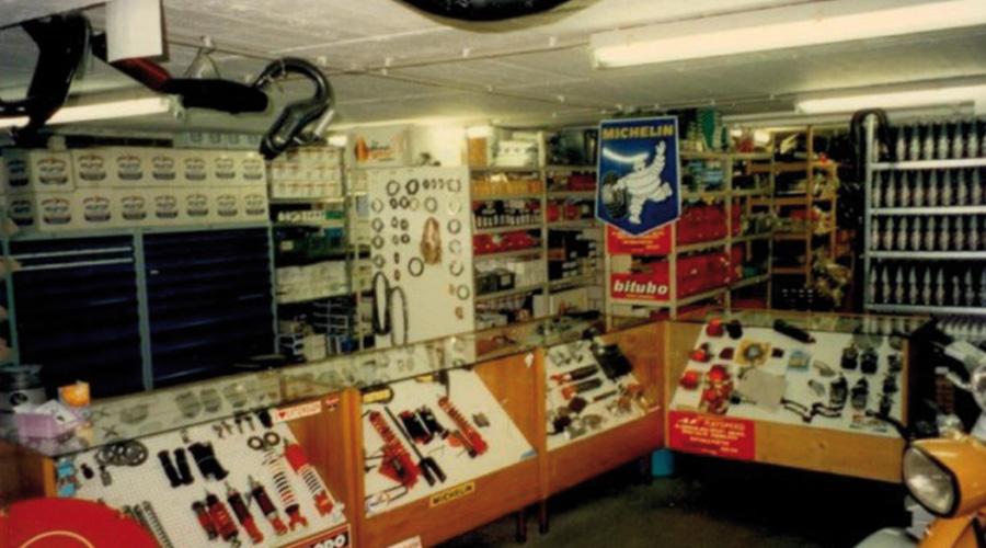 Der erste Scooter Center Laden in den 90er Jahren