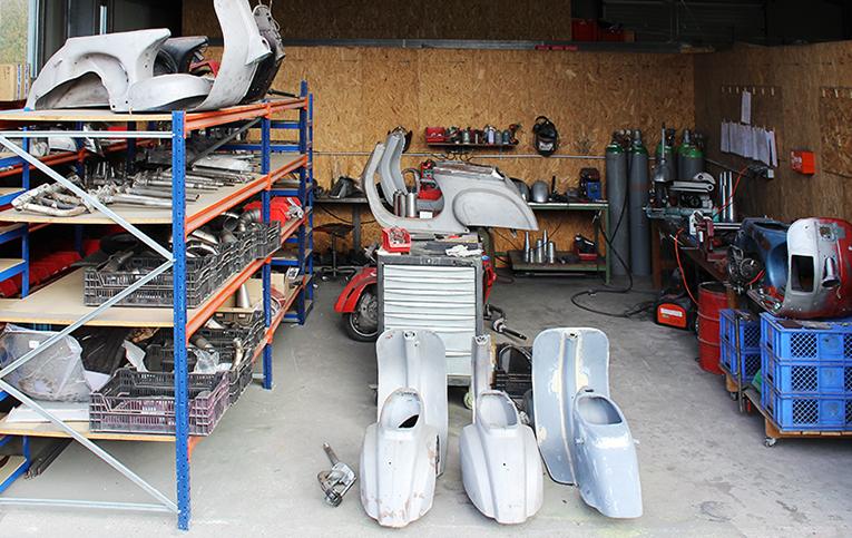 Scooter & Service - Wolles Wirkungsstätte, wo nicht nur die besten Auspuffanlagen entstehen.