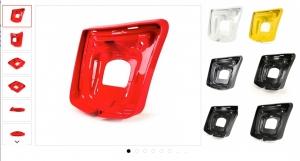 Rücklichtrahmen -MOTO NOSTRA- Vespa GTS, GTS Super 125-300ccm (2014-, Facelift) -