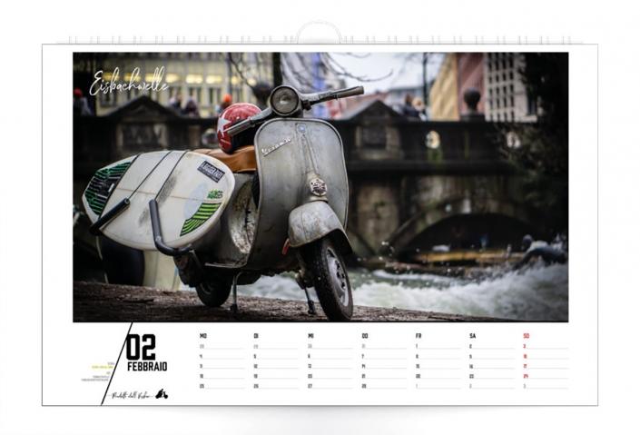 Vespa Eisbachsurfer Vespa München Kalender 2019