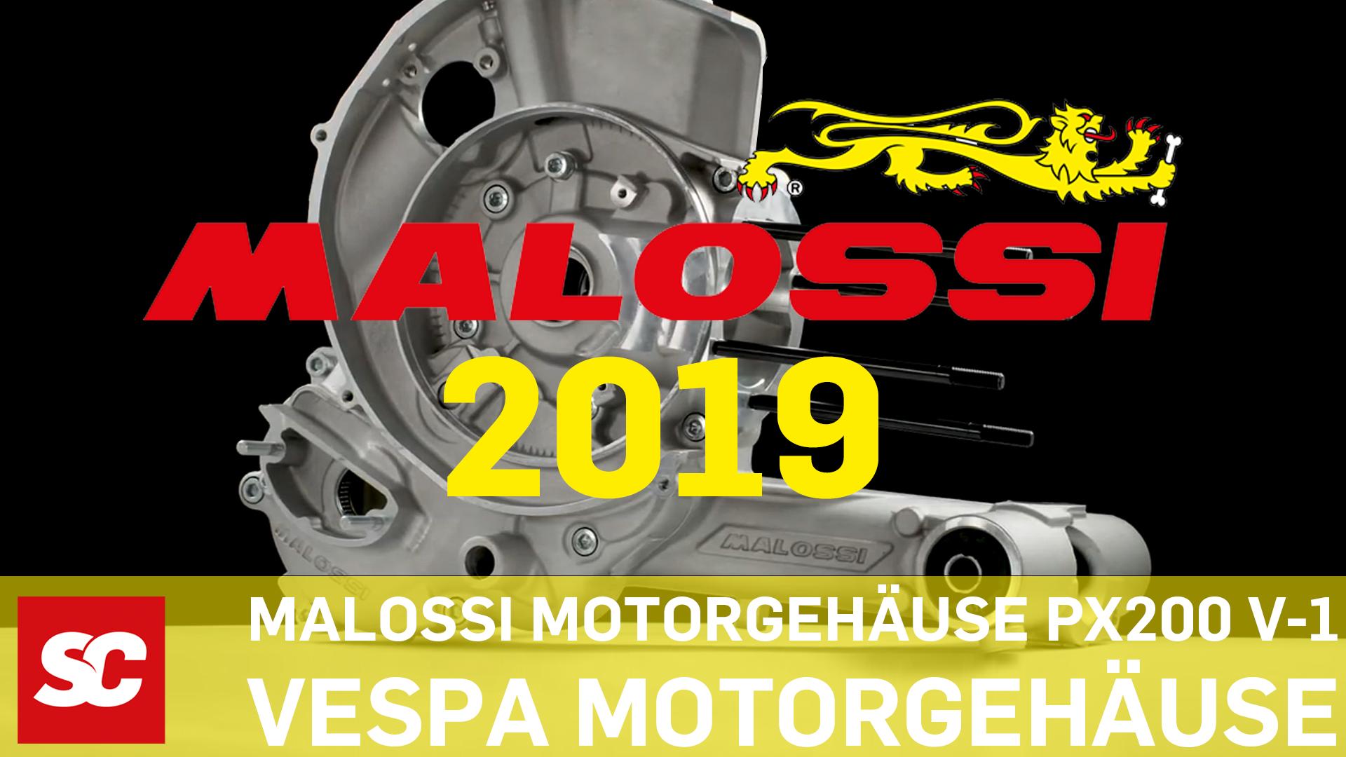 Neue Malossi V-One Motorgehäuse 2019 für Vespa PX 200