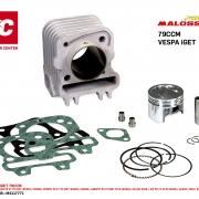 Zylinder -MALOSSI iGet 79ccm (CDI M5518409 benötigt)- Vespa Primavera 50 4T 3V iGET (Euro4, CA03M), Sprint 50 4T 3V iGET (Euro4, CA01M), Liberty 50 4T iGET 3V ie (Euro4, CA11M, 2018-), Zip 50 4T 3V ie (Euro4, CA21M, 2018-) Malossi Artikel-Nr.: M3117771