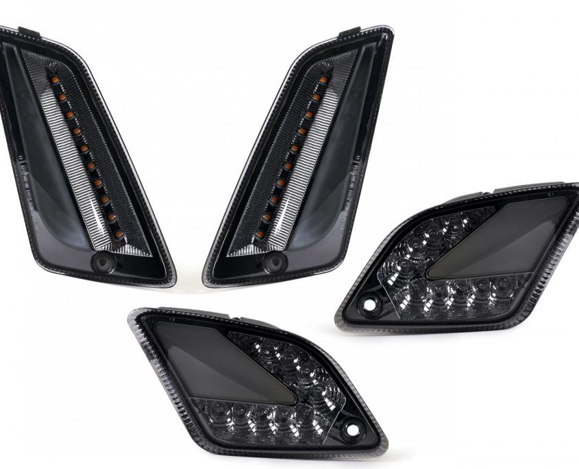 Blinker-Set vorne+hinten -MOTO NOSTRA (2019-) dynamisches LED Lauflicht, Tagfahrlicht vorne + Positionslicht hinten (E-Prüfzeichen)- Vespa GTS 125-300 HPE (2019-) - Moto Nostra Artikel-Nr.: MN619KTB