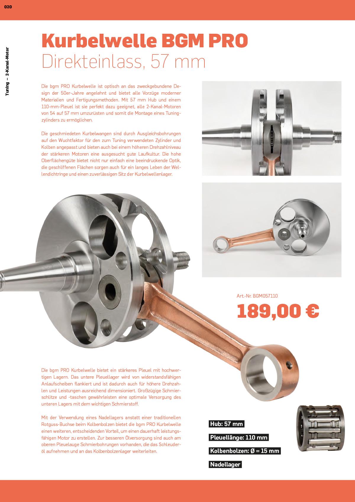 Vespa Wideframe Tuning Kurbelwelle im Vespa Katalog
