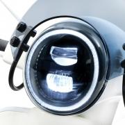 Scheinwerfer -MOTO NOSTRA- LED HighPower - GTS i.e. Super 125-300 - (-2018, auch passend für GT, GTS, GTL) - schwarzer ReflektorMoto Nostra Artikel-Nr.: MN1102B