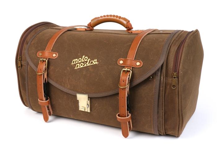 Taschen und Koffer als alternative zum Topcase -MOTO NOSTRA Classic 'waxed canvas' z.B. für Vespa, Lambretta, GTS, GTV, LX/LXV, ET4, S50-150, Sprint, Primavera