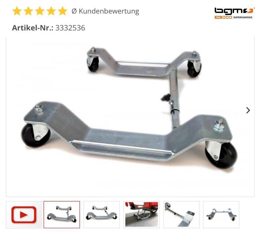 Stabile Stahl Motorroller Rangierhilfe Vespa, Lambretta etc.