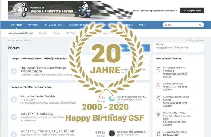Všechno nejlepší k narozeninám Fórum německých skútrů