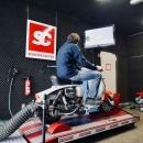 Auspuff Test auf dem Scooter Center Leisungsprüfstand