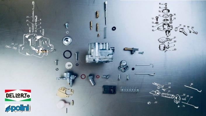 Náhradní díly karburátoru skútru