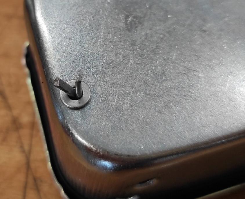 Vespa Luftfilterkasten Sicherung mit Splint und Scheibe