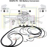 Kabelbaum BGM ORIGINAL passend für alle Vespa PX Modelle bis Baujahr 1982