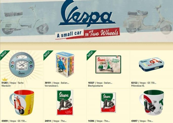 Nostalgic Art Vespa Merchandise 2021