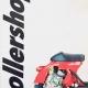 ROLLERSHOP Vespa Katalog 1987 mit roter Vespa Primavera 125 und Zirri Motor mit Wasserkühlung