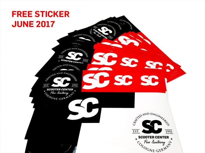 Kostenlose Sticker Scooter Motorroller