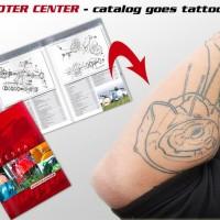 Tattoo mit Vorlage aus dem Scooter Center Vespa Katalog